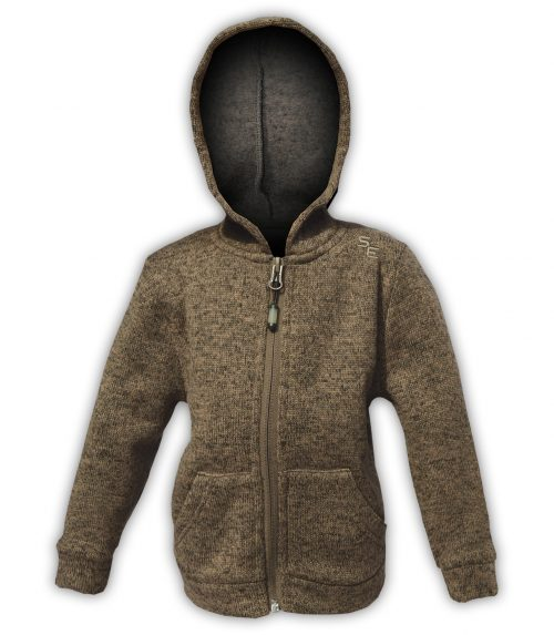 kids babies brown green sweater fleece full zip hoodie summit edge brand