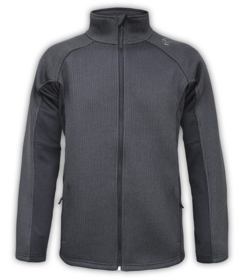jacket full zip coarse weave fleece summit edge outerwear logo mountain