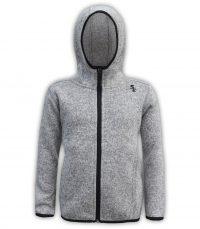kids north shore fleece gray jacket black zipper summit edge brand hoodie