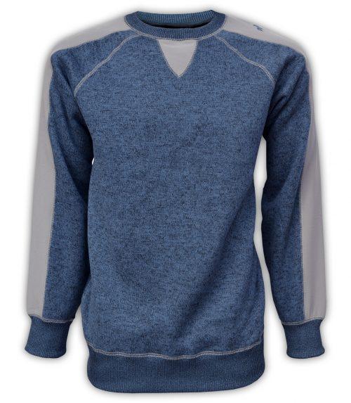 summit edge mens pullover, sweater fleece, gray, denim, blue
