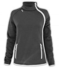 womens fashionable side zip jacket, black white, zip pockets, summit edge brand