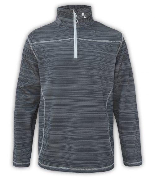 summit edge outerwear brand gray mens quarter zip workout pullover, printed, white zipper, collar,