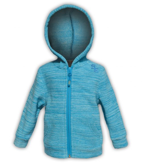 kids hoodie zip up blue summit edge brand polar fleece