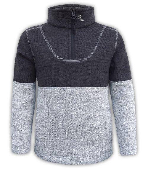 kids north shore fleece pullover 2 color collar 1/4 zip