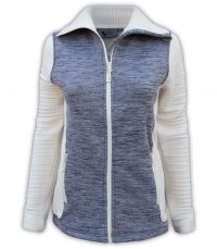 summit edge outerwear brand womens sports jacket, blue white collar, cream, soft comfortable low price