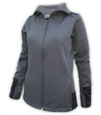 womens folding collar jacket sporty blue summit edge outerwear